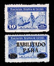 SPAIN ASOCIACION BENEFICA DE CORREOS  - SIN VALOR POSTAL WITH AND W/O OVERPRINT
