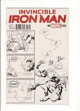 INVINCIBLE IRON MAN #1 (Marvel 2015) PUTRI DEADPOOL PARTY B/W VARIANT cover NM