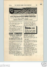 1952 PAPER AD Orvis Impregnated Split Bamboo Fishing Rod Gliebe Tackle Edwards