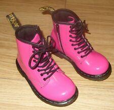 Kids Pink Patent Dr Martens Brooklee Girls Air Wair Boots Size Infant UK 7 EU 24