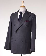 NWT $3195 BELVEST Gray Mini Houndstooth Check Wool Suit 40 R (Eu 50) Modern-Fit