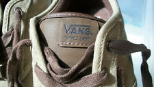 NWOB - Authentic VAN'S OFF THE WALL Brown Low Rise Sneakers - Youth Size 6