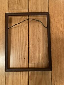 Picture Wood Frame Vintage Dark Color Decorative 6.5x8.5 and 8x6 Inches