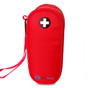 PracMedic- Allergy EpiPen Carrying Case RED for School- Premium Quality-YKK Zip