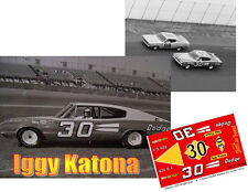 CD_2589  #30 Iggy Katona  1966 Dodge Charger   1:64 scale DECALS ~overstock~