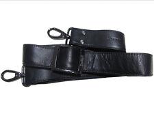 3 cm LEDER Schulterriemen schwarz Lederriemen Trageriemen Griff Schultergurt