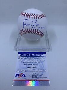 Farhan Zaidi Signed Rawlings ROMLB Baseball San Francisco Giants PSA/DNA