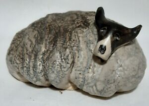 Vintage Sweden Crazy Dog Figurine Signed Collectible Home Decor