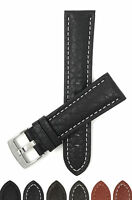 Bandini Watch Band, Leather Strap, Buffalo Pattern, 18mm - 30mm Extra Long Also