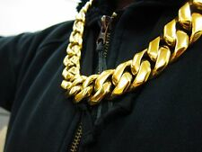 530 gram HEAVY GOLD Classic Rolo Bling Hip Hop Chain Necklace for Jay Z Fans