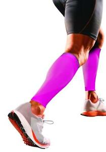 Shock Doctor Calf Sleeves Support Compression Ventilated Construction Pink Smal