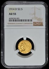 1914-D $2.50 Gold Indian Head NGC AU55
