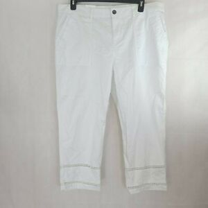 Style & Company Womens White Lace Cut Out Casual Short WP-286