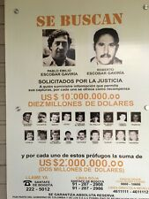 PABLO ESCOBAR DEA WANTED POSTER FLYER COLOMBIAN MEDELLIN DRUG CARTEL SE BUSCAN