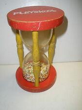 Vintage Playskool Toy Hourglass1970's Egg Timer  Wooden