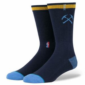 Mens Stance NBA Denver Nuggets Classic Pique Crew Socks 558 Blue NWT