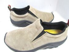 Merrell Jungle Mocs Beige Ivory Leather Suede Shoes Traction 8.5 EXC
