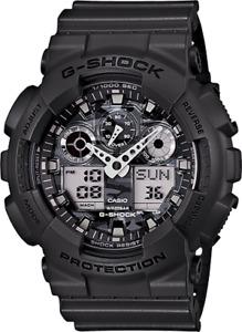 Casio G-Shock Mens Watch GA100CF-8A GA-100CF-8A Camouflage Grey Analog Digital