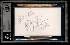 Ray Boom Boom Mancini signed autograph 3x5 card Boxing Hall of Fame BAS Slabbed