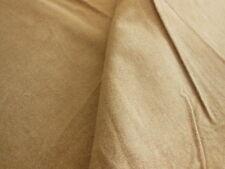 B3  ancien tissu style flanelle marron moucheté 2m 40 sur 80 cm