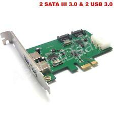 PCI-E PCI Express 2 SATA III 3.0 & 2 USB 3.0 Card Adapter Converter