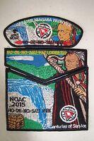 OA HO DE NO SAU NEE 159 GRTR NIAGRA FRONTIER 3-PATCH 3D 100TH ANN 2015 NOAC FLAP