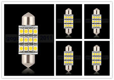 5x 36mm 12smd led festoon car interior light lamp bulbs 0.5W DC12V warm white