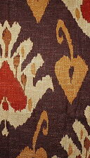 ANDREW MARTIN Sokoto Rust Ikat Central Asian England Remnant New