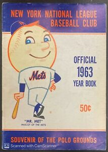 1963 NEW YORK METS NATIONAL LEAGUE BASEBALL CLUB OFFICIAL YEARBOOK