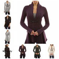 Womens Knit Jacket Loose Oversized Sweater UK Cardigan Baggy Party Plus size