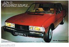 PUBLICITE ADVERTISING 105  1979   PEUGEOT  604 TI  V6  (2p)