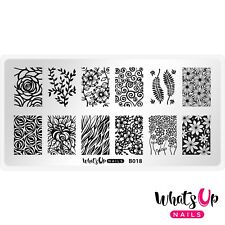 B018 Fields of Flowers Stamping Plate For Stamped Nail Art Design