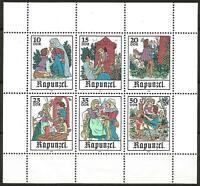 Germany East DDR GDR 1978 MNH Fairy Tales Rapunzel Grimm  Mi-2382/7  SG-E2092/97