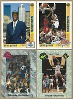 1991-92 Upper Deck & Classic DIKEMBE MUTOMBO Rookie Cards - 4 Card Lot