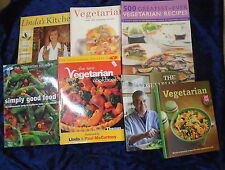 * 7 MOUTH-WATERING VEGETARIAN COOK BOOKS by VARIOUS AUTHORS *UK FREE POST*HB/PB*