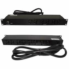 """19"""" inch 1U Rack Mount 14-Outlet 20Amp PDU Power Bar Strip AC 6ft Cable"""