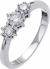 Band Excellent Cut White Gold I1 Fine Diamond Rings