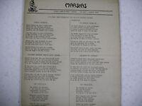 revue MARSYAS n° 267 - 1949 poèmes textes provençaux français Peyre