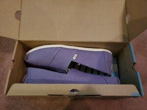 TOMS Women Classic Dusky Purple Heritage Canvas Shoes Flats Size 9.5 NEW