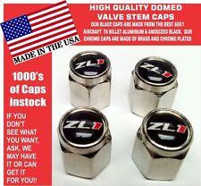 4 Chrome & Black ZL1 SS Chevrolet Super Sport SS Rally Sport  RS Valve Stem Caps