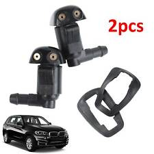 2x Car Windscreen Windshield Washer Wiper Front & Rear Nozzle Window Spray Jet