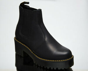 Dr. Martens Rometty Chelsea Black Burnished Wyoming Women's Leather Shoes