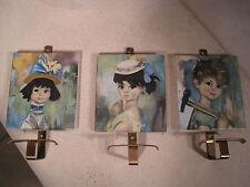 Porte Manteau Patère Triptyque VINTAGE Style POULBOT Décoration Chambre Enfant