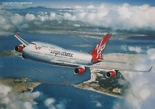 VIRGIN ATLANTIC BOEING 747-400 AIRLINER ART PRINT