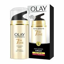 2 x Olay Total Effects 7 In 1 Normal Anti Aging Skin Day Cream, SPF 15, 20g