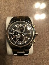 Citizens Mens Chronograph WR 100 Stainless Steel Watch