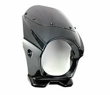 "2FastMoto Viking Custom Cafe Mini Fairing Side Mount 5-3/4"" Headlight Black NEW"