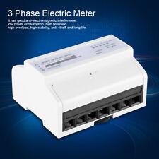 Digitale 3-Fase 4 Wire Din-Rail Contatore Elettrico KWh Metro Trifase 50Hz