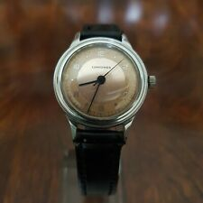 VINTAGE LONGINES MILITARY STYLE,STAINLESS STEEL MEN´S WATCH CIRCA 1946