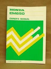 Vintage 1985 Honda Generator EM650 Maintenance Owners Manual 00X31-ZA8-7011